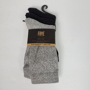 FRYE Supersoft Crew Socks NWT black gray size 5-10